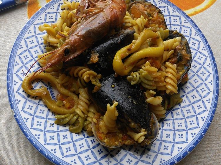 Pasta con mariscos (3)