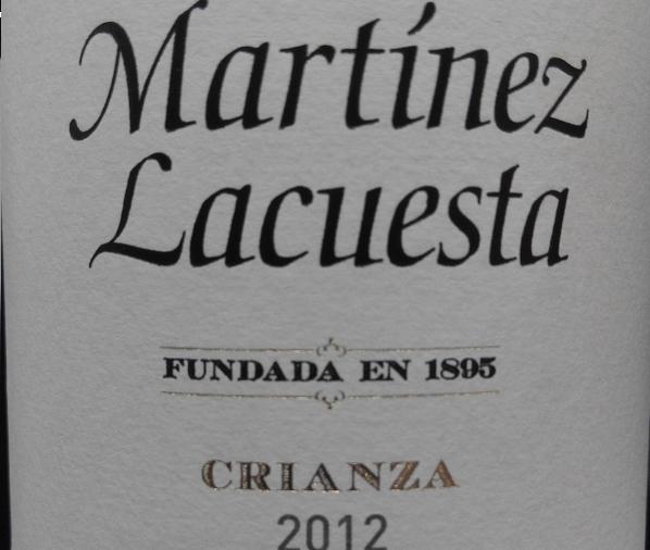 Catamos Martínez Lacuesta Crianza 2012 1