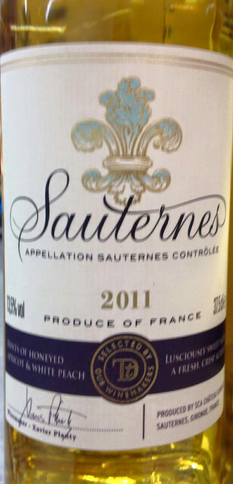 Catamos Sauternes Taste the Difference 2011 1