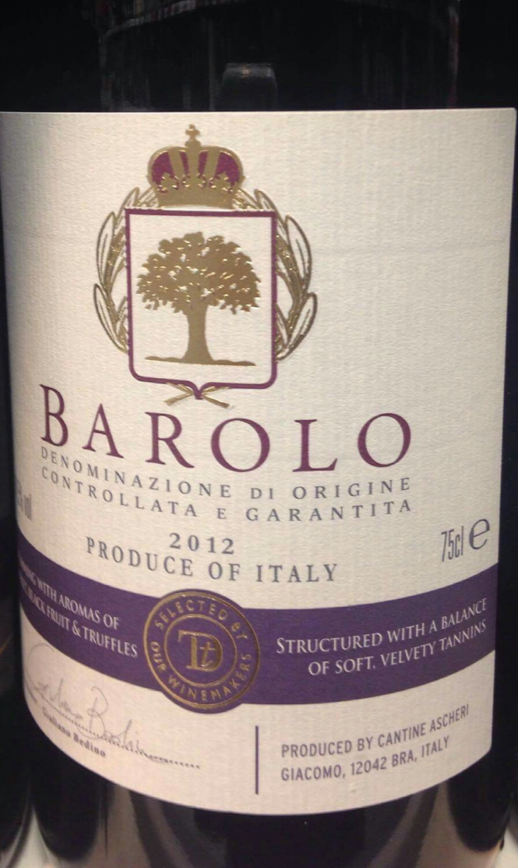 Catamos Sainsbury's Taste the Difference Barolo 2012 1