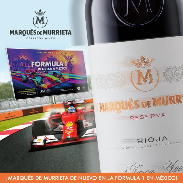 Marqués de Murrieta el vino oficial de la Fórmula 1 en México 1