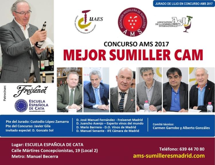 Concurso Mejor Sumiller de la Comunidad de Madrid-AMS 2017