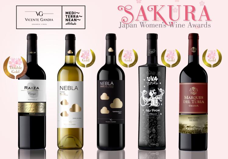 Excelentes resultados para los vinos de Vicente Gandía en el Sakura Wine Awards 1