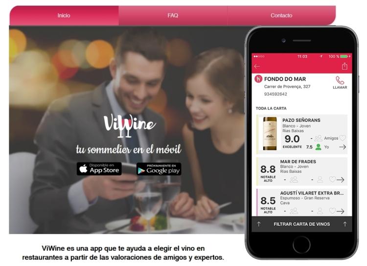 ViWine, nueva app que nos permite escoger el mejor vino por las referencias de nuestros amigos 1