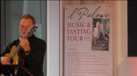 Il Palagio, Music and Tasting Tour, nuevo formato de Sting que une música y vino estrenado en Prowein 2017 2