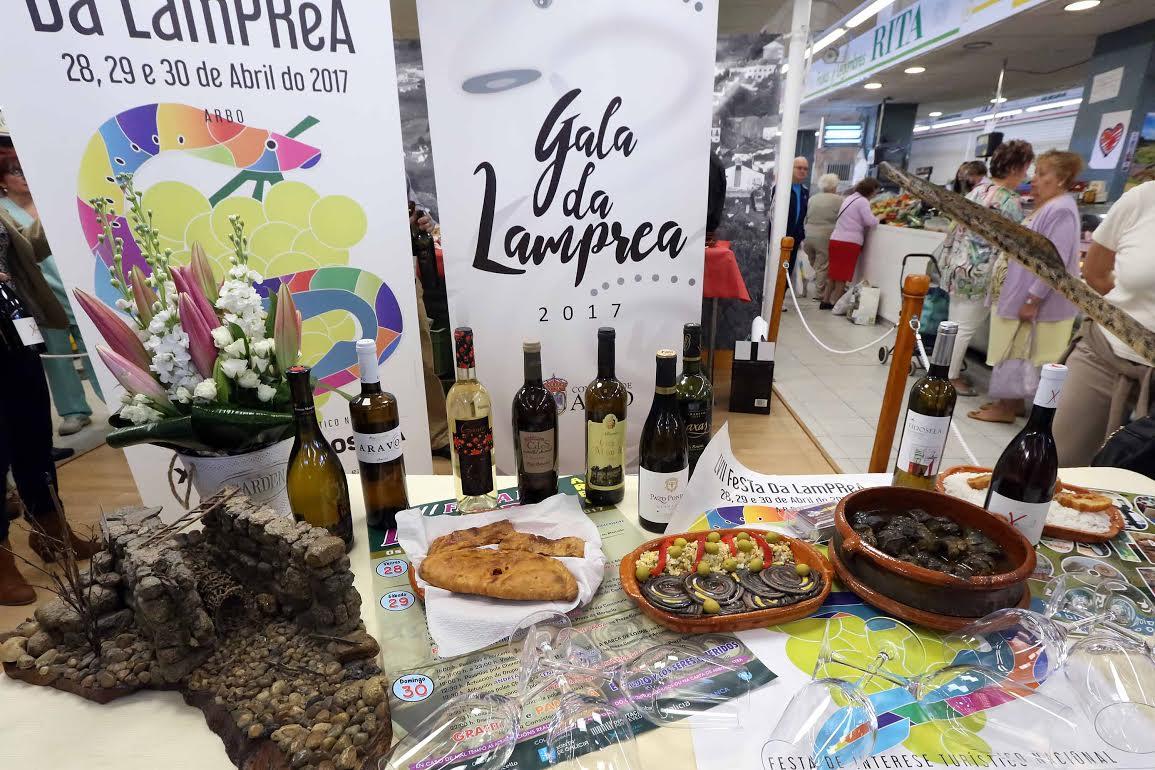 El Concello de Arbo presenta en el mercado de Teis su 'LVII Festa da Lamprea' 2