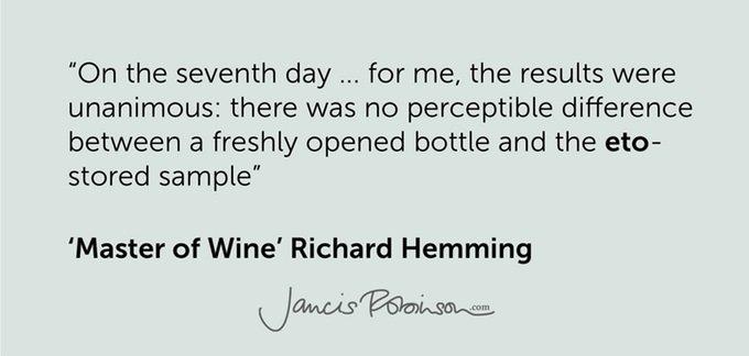 Se presenta la botella que mantendría el vino sin cambios durante 12 días una vez abierto