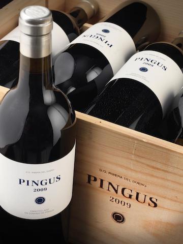 Sale a subasta un lote de Pingus 2009 de 11 botellas a un precio de salida entre 5.100 y 5.700 euros