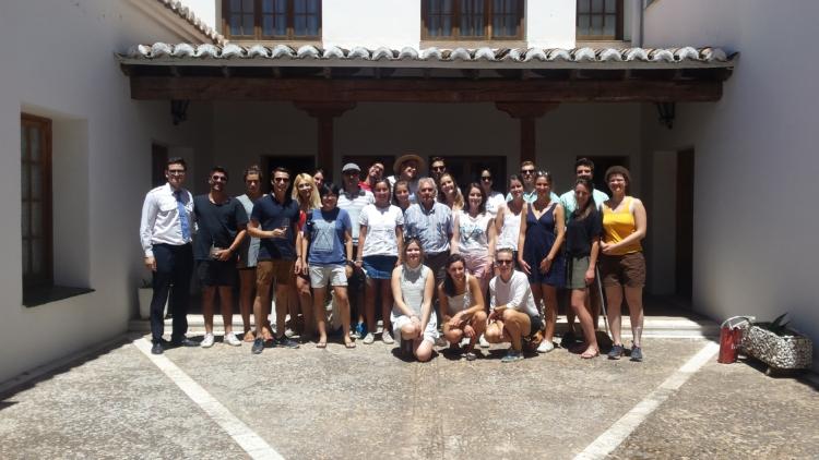 Alumnos de la Universidad Politécnica de Valencia visitan la D.O. Valdepeñas 1