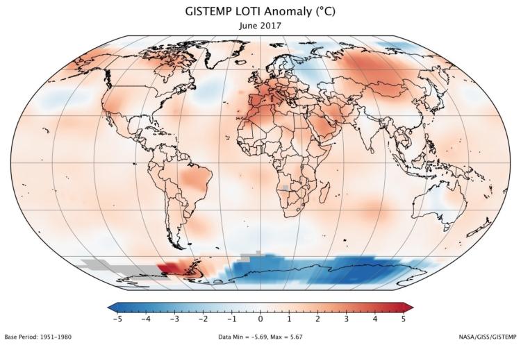 Junio de 2017 ha sido el cuarto más cálido de la historia 1