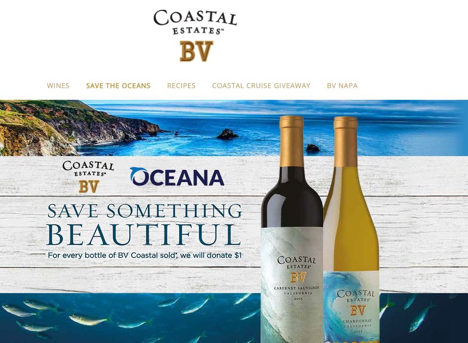 La bodega BV Coastal Estates donará 1 dólar por cada botella que venda en dos años para ayuda a conservar los océanos 1