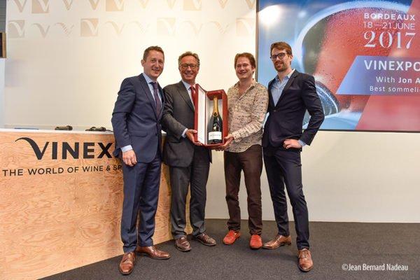 Stéphane Saillet vencedor del 'Desafío Vinexpo' frente a más de 100 paladares especializados. 1
