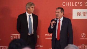 Manuel Pellegrini imagen del vino de Chile en Beijing 2