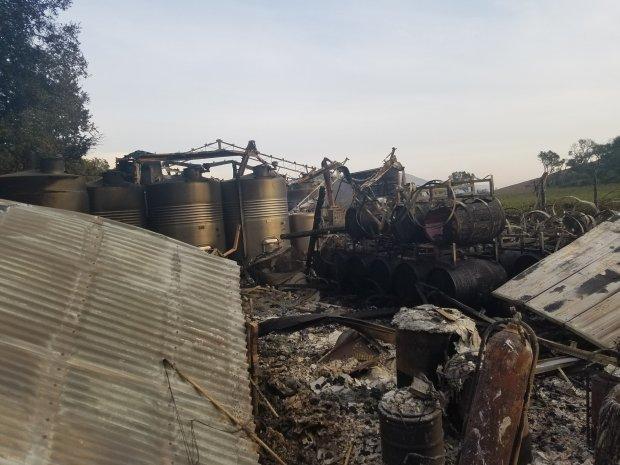 Miles de personas buscan refugio en los históricos y nefastos incendios que arrasan las zonas vinícolas de California 1