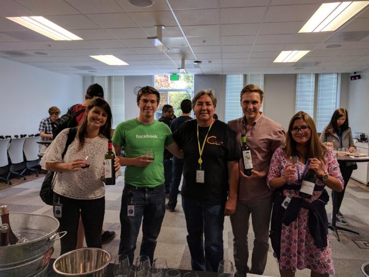 Los empleados de Facebook encantados con los vinos de Granada