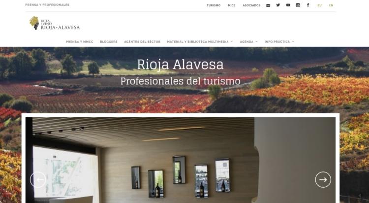 La Ruta del Vino de Rioja Alavesa recibe el Premio Buber a su nueva web 1