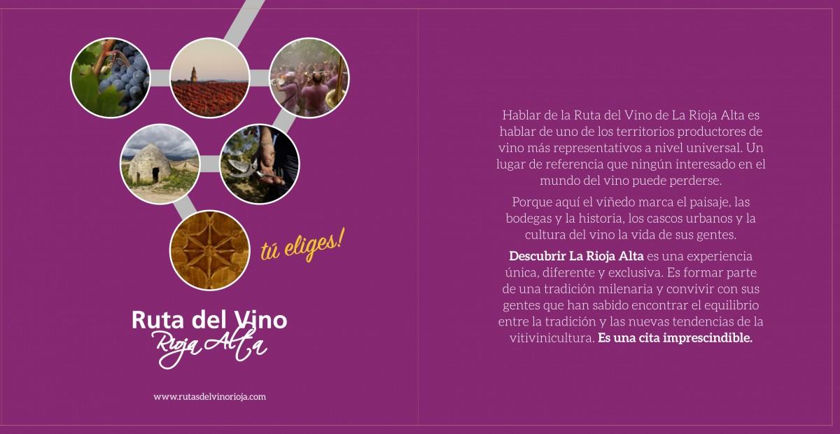 La Ruta del Vino de Rioja Alta presenta su nuevo folleto de enoturismo 1